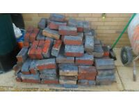 over 200 reclaimed bricks red and orange free to collecter