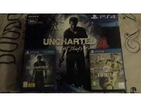 PS4 SLIM - 500GB - FIFA 17 - UNCHARTED ( 2 MONTHS OLD )