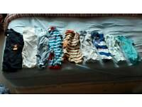 Baby boy baby grows and rompers size 0 to 3 months