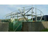 Very Large Galvanised Polytunnel Frame + extras