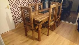 French Solid table and chairs