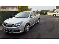 2007 57 plate Silver Vauxhall Vectra sri