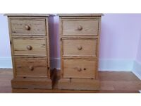 Solid Pine High Quality Bedside Cabinets (matching pair)