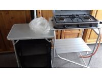 KAMPA 3 BURNER HOB WITH CAMPING KITCHEN