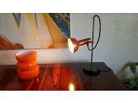 VINTAGE 70s HEAVY BASE ADJUSTABLE RISE FALL DESK LAMP MODERN RETRO HOME OFFICE STUDY VGC