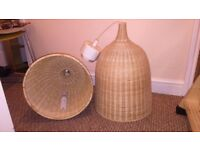 Ikea large wicker lamp shades x 2