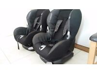 Maxi cosi priory car seat 9-18kg secured by car seat with lever to ensure a really tight fit.