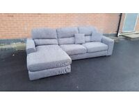 Great BRAND NEW grey fabric corner sofa ,good quality ,can deliver