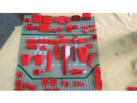 LEGO 700 RED Mixed Bricks, Parts and Pieces - genuine