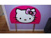 Hello Kitty Headboard with nightlight in pink