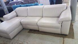 Natuzzi sensor italian grey corner sofa