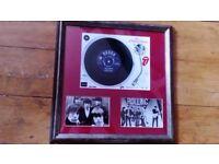 Framed rolling stones vinyl single beatles