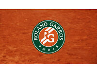 FRENCH OPEN ROLAND GARROS TENNIS QUARTER FINAL TICKET - 6TH JUNE 2018