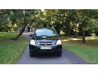 53 HONDA CRV SE SPORT LOW MILES FSH HALF LEATHER BLACK £2295*freelander rav4 x3 vitara vw size cars*