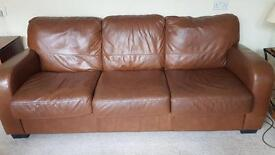 100% authentic Leather 3 Seater Sofa