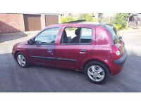 2002 renault clio privilege 1.4 with full mot for sale