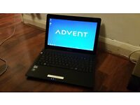 """ADVENT ECLIPSE E100 RED LAPTOP, 13.3"""" WIDE, WIN 7, WEBCAM, WIFI, IN EXCELLENT WORKING ORDER"""