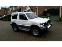 1994 M REG MITSUBISHI PAJERO IMPORT 2.8 TURBO DIESEL WHITE 12 MONTHS MOT GREAT EXAMPLE