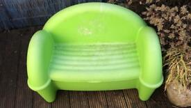 Child's garden seat / bench with stirage