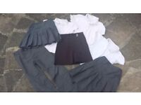 Bundle girls school uniform trousers skirts tops Age 7 8 Years