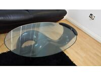 Table designer in black hardly used see pic