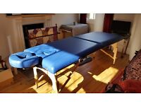 Portable massage table: never used.