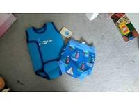 Baby swim nsppy and vest