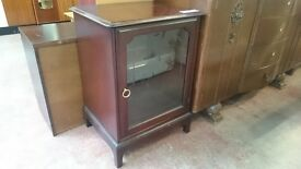 Stag Glass Panel Cabinet with Flip Top