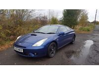 BARGAIN!! Toyota Celica 140 Bhp 6 Speed **12 MONTHS MOT**LEATHER ALLOYS SUNROOF **
