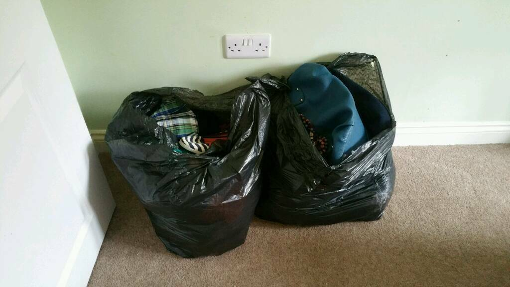 2 large bin bags full of clothes