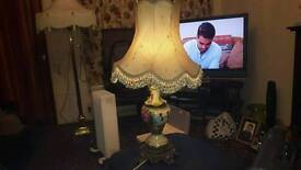 Lamp hand made signed
