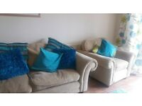 REDUCED FOR QUICK SALE sofa and armchair