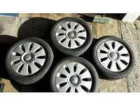 Audi Alloys wheels and tyres - VW Volkswagen - Winter Tyres - A3 - A4 - Passat - Golf 205/55/16