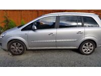 2010 Vauxhall Zafira 7-seat Full Leather Diesel Automatic Silver 71000miles Parking Sensors