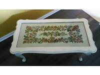 Shabby chic embroidered table