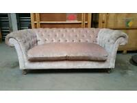 Pink Chesterfield style Marks & Spencer isobel 2 seater sofa