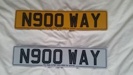 Number plate for sale with certificate : NO WAY