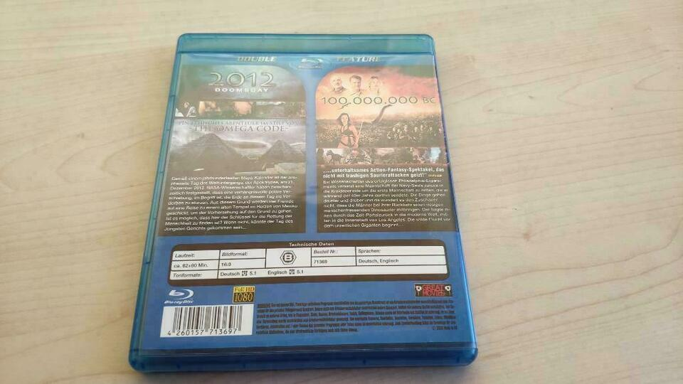 Blu-ray 2012 Doomsday + 100.000.000 BC in Wedel