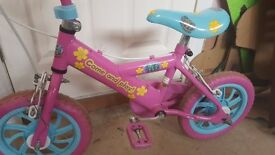 Girls fifi Pink Bike - Great for 1st bike while learning to cycle - Free Hello Kitty Helmet