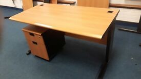 Executive office desks with matching pedistals ideal for new office fit out