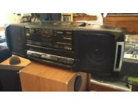 JVC Ghetto Blaster PC-W150 early 80's in VGC: has Aux in for iPod/iPhone/Smart Phone/Bluetooth