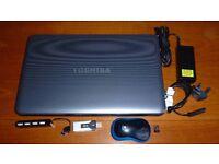 "TOSHIBA SATELITTE 15"" LAPTOP, 8Gb RAM, 750Gb HDD"