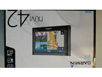 Satellite navigation. Garmin Nuvi 42, brand new unopened prize.