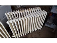 4 x cast iron radiators