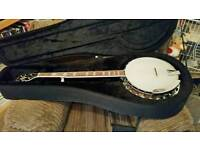 Goldtone 5 string bluegrass resonator banjo
