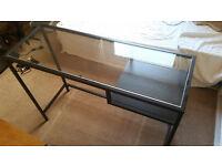 IKEA glass laptop table