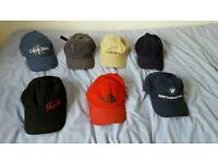 Bundle of 7 baseball caps