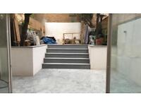 Polished concrete and microcement
