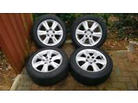 16inch Lexus alloys 5 x 114.3 with 205/55r16 continental blizzard winter tyres