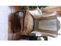 carved wood gothic throne library fireside fancy chair